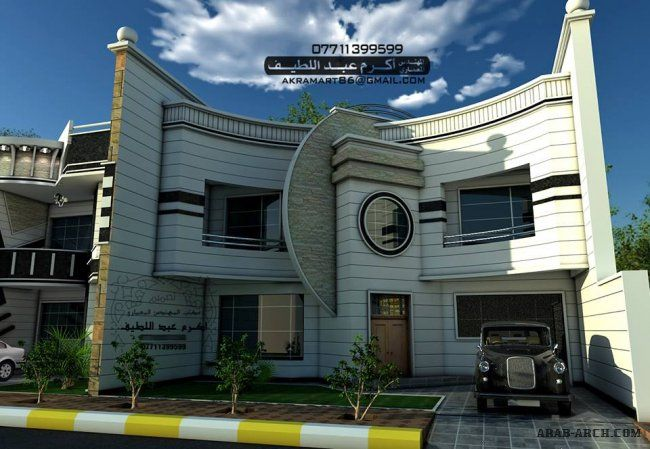 تصميمات معمارية واجهات فلل مودرن جداا 3 مكتب المهندس اكرم عبد اللطيف Modern House Design Modern House House Gate Design