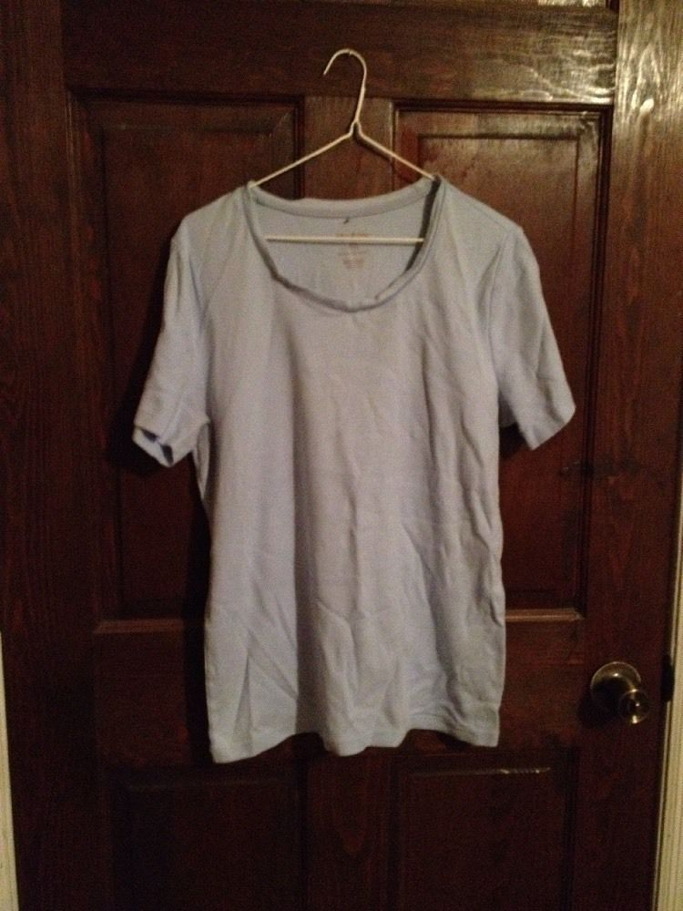 Women's Large Blue T Shirt White Stag | eBay