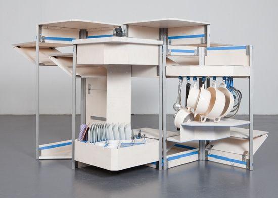 praktische Stauraum Ideen kleine Küche Möbel Pinterest - bilder in der küche