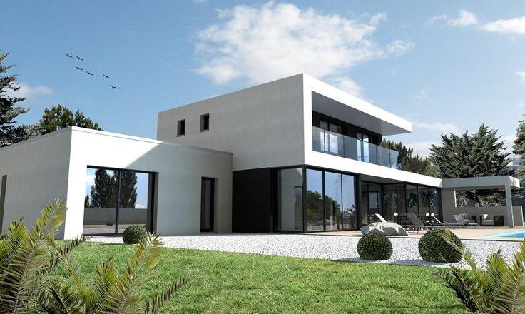 Maison ultra moderne noir et blanc Nantes - #blanc #maison #moderne ...
