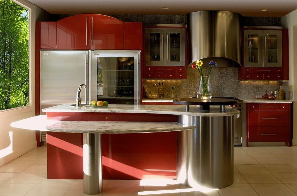 Cocina roja35 cocinas Pinterest Cocina roja, Fotos de cocina y