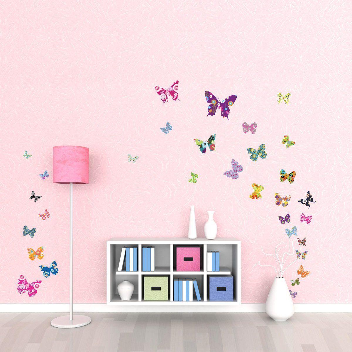 Decowall DW-1201, 38 farfalle colorate Adesivi da parete  wall stickers  adesivi da parete ...