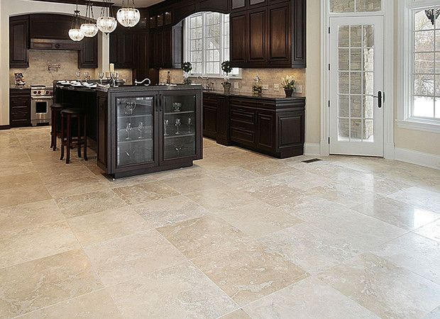 Travertine Kitchen Floor : I used to be a proponent for wood floors but this