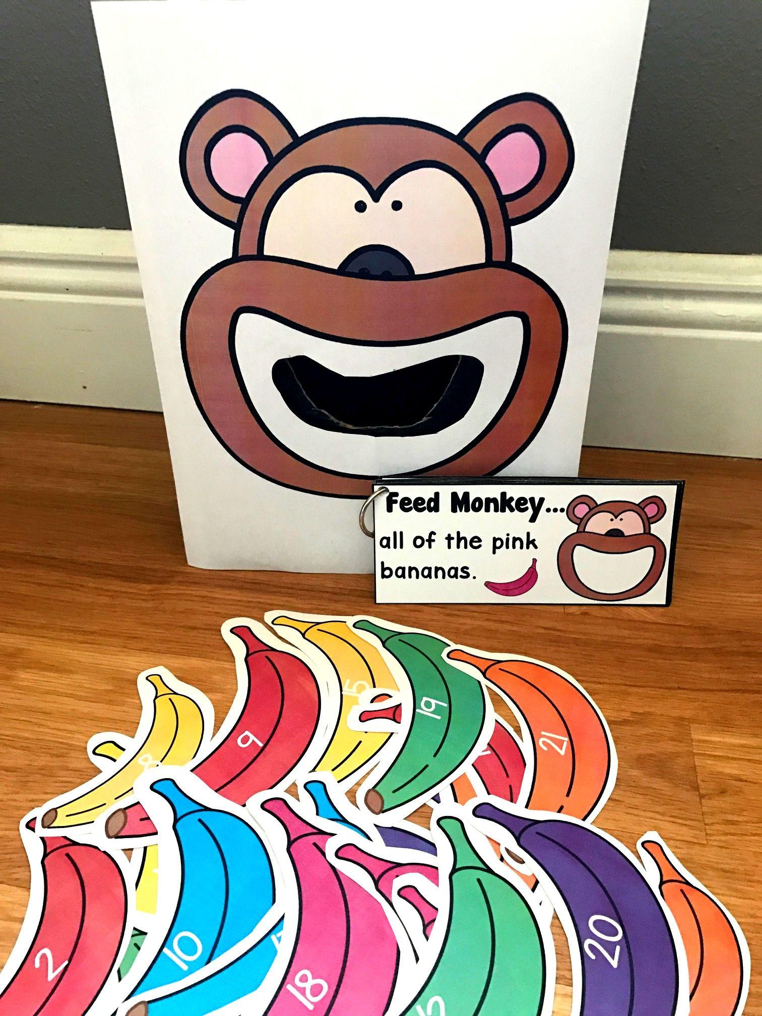 Sensory Bin Activities Feed Monkey Activities