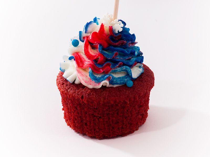 Red Velvet cupcakes so smotanovým krémom