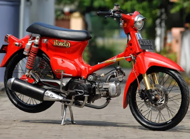 Modifikasi Honda C70 Simple