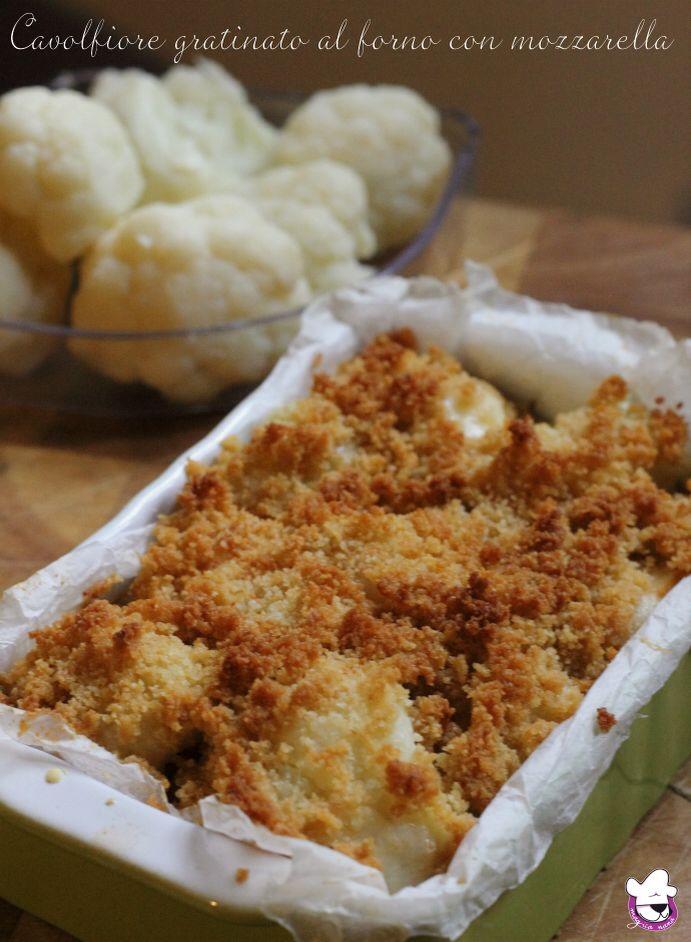 Un'idea semplice e nutriente ... magari da preparare stasera Cavolfiore gratinato al forno con mozzarella  http://blog.giallozafferano.it/sognandoincucina/cavolfiore-gratinato-al-forno-con-mozzarella/
