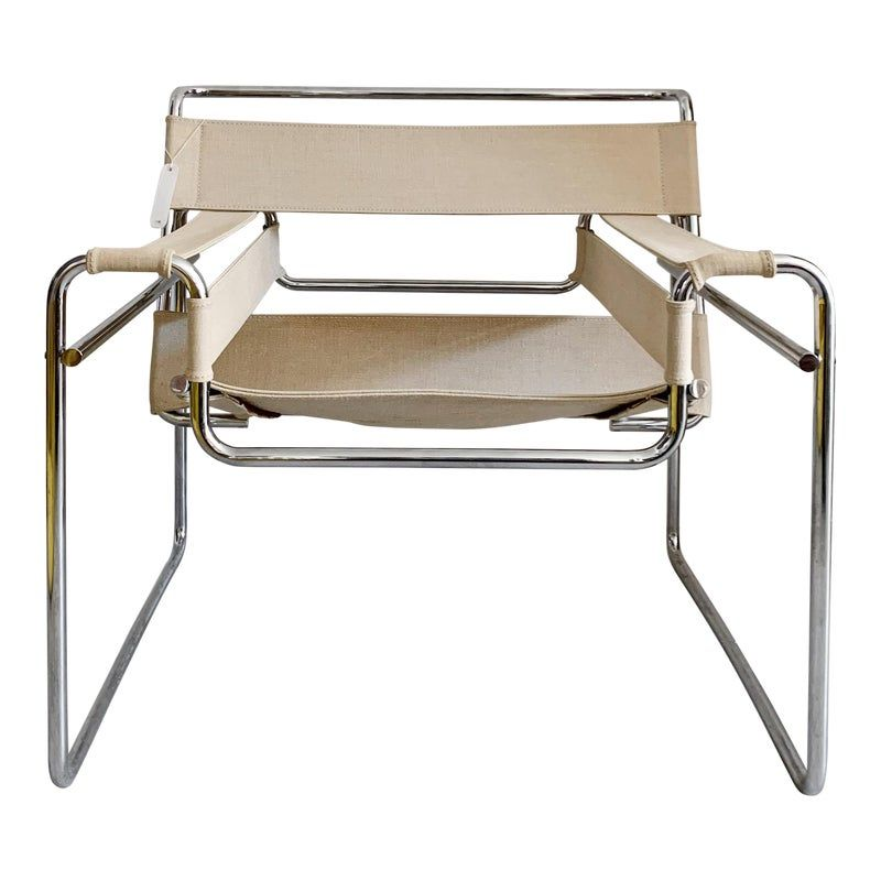 1950s Vintage Canvas Wassily Chair By Marcel Breuer In 2020