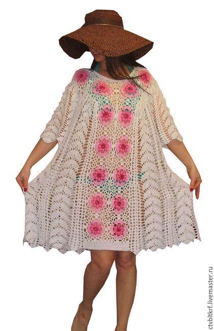 4dc40c0b5e3a871 Пляжные платья ручной работы. Ярмарка Мастеров - ручная работа. Купить  Вязаное пляжное платье