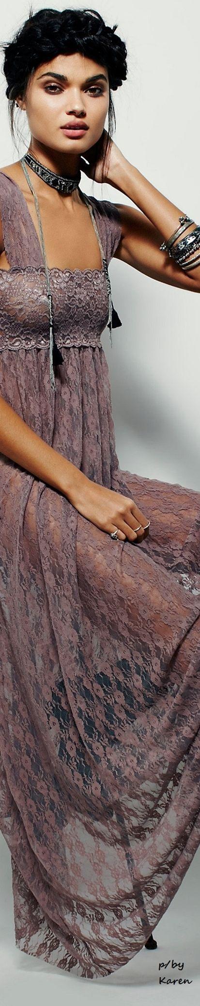 #Unique_Boho_Style lilac lace dress