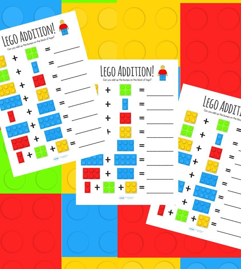 Lego Addition Worksheet | EDUCATION : General | Pinterest | Addition ...