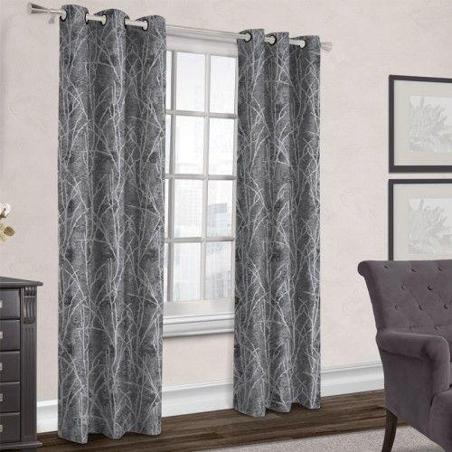 TWIG Blackout Curtain (Black Pearl) | Blackout Curtain | JYSK Canada ...