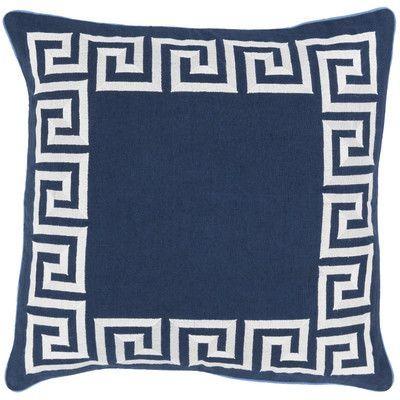 Surya Key 100% Linen Throw Pillow Cover