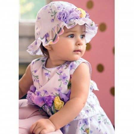 Aletta - Baby Girls Purple Floral Dress with Bloomers | Childrensalon