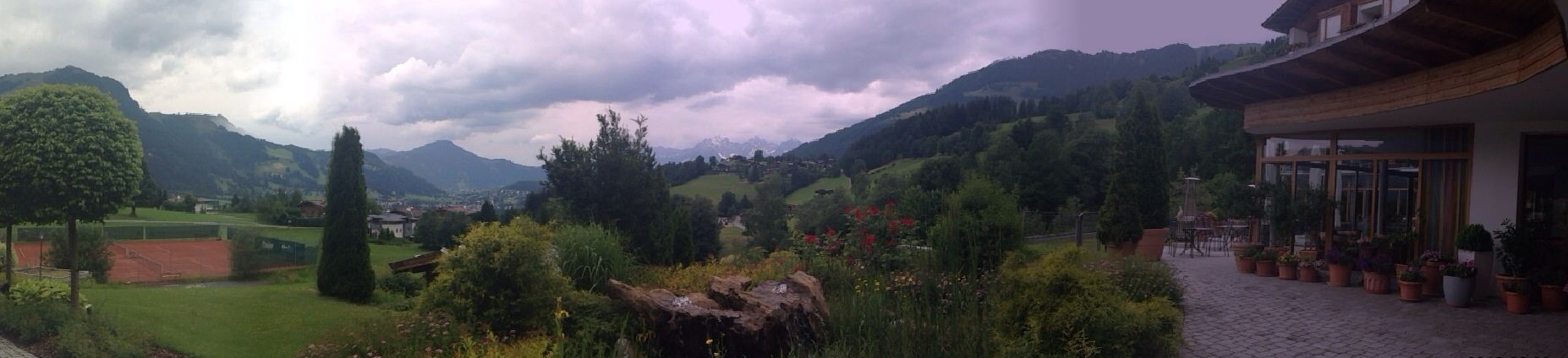 Blick auf Kitzbühel