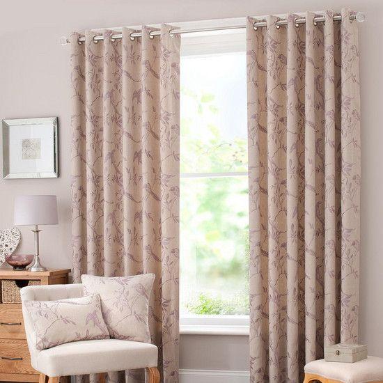 Mauve Songbird Curtain Collection Dunelm Curtains