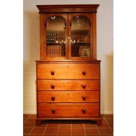 antieke boekenkast een prachtig antieke engels boekenkast de antieke laden kast is volledig van eikenhout