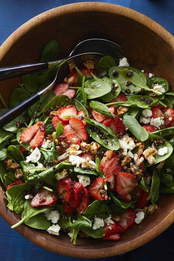 Photo of Spinach and strawberry salad with feta and walnuts – New Ideas