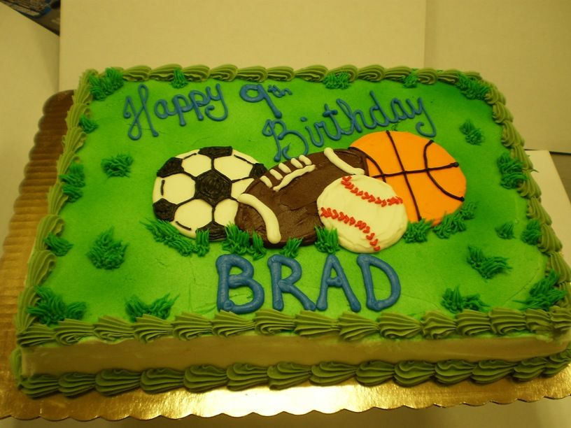 Sports Birthday Cake CAKE IDEALS Pinterest Birthday cakes