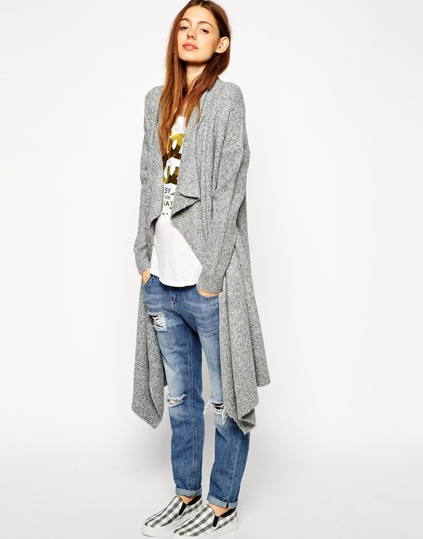 Longline Waterfall Cardigan in Chunky Knit! Now on http ...