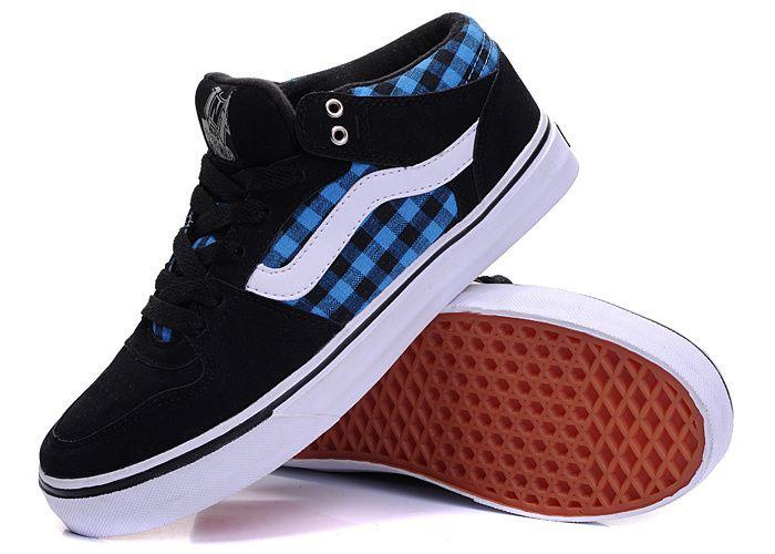Vans Half Cab Pro Black Blue  Vans Vans Skate Shoes e08b9e52c