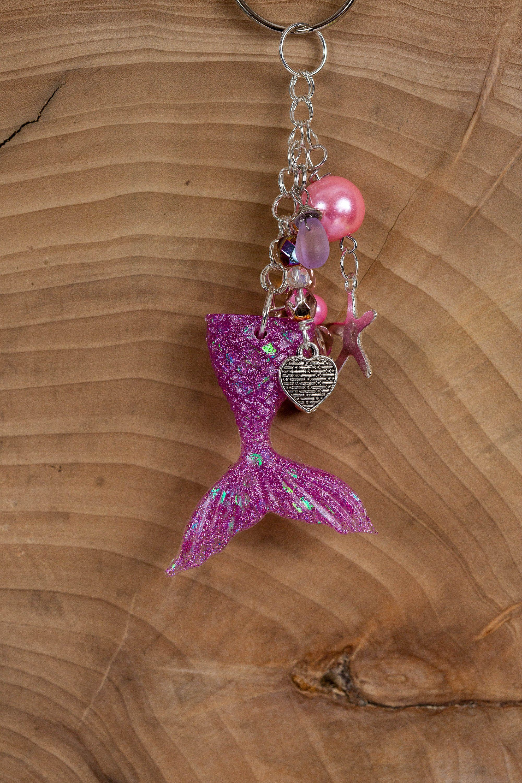Beach Accessories Mermaid Tail Key Chain Keychain