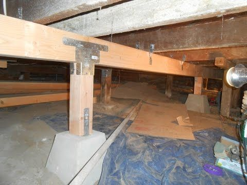 Fixing Sagging And Rotten Floor Joists Youtube Updating House