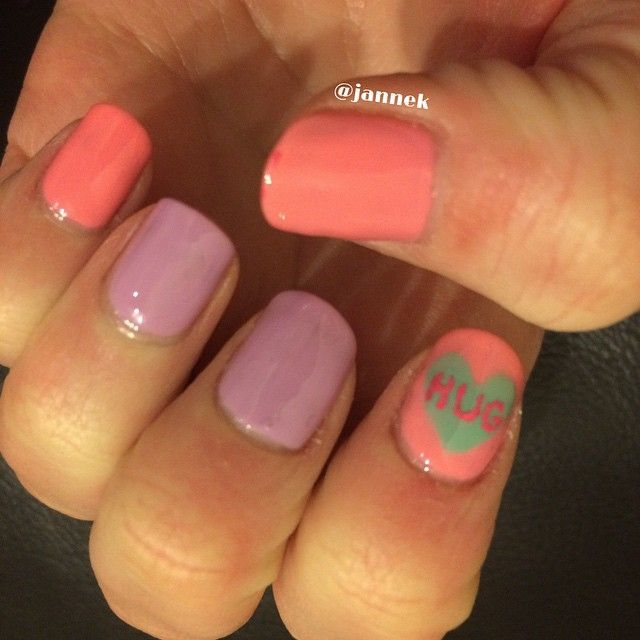 Pastel with conversation heart
