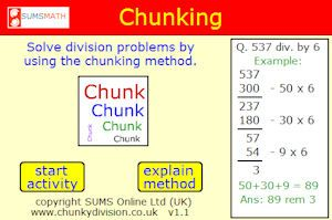 Chunking is an excellent free math website which explains this ...
