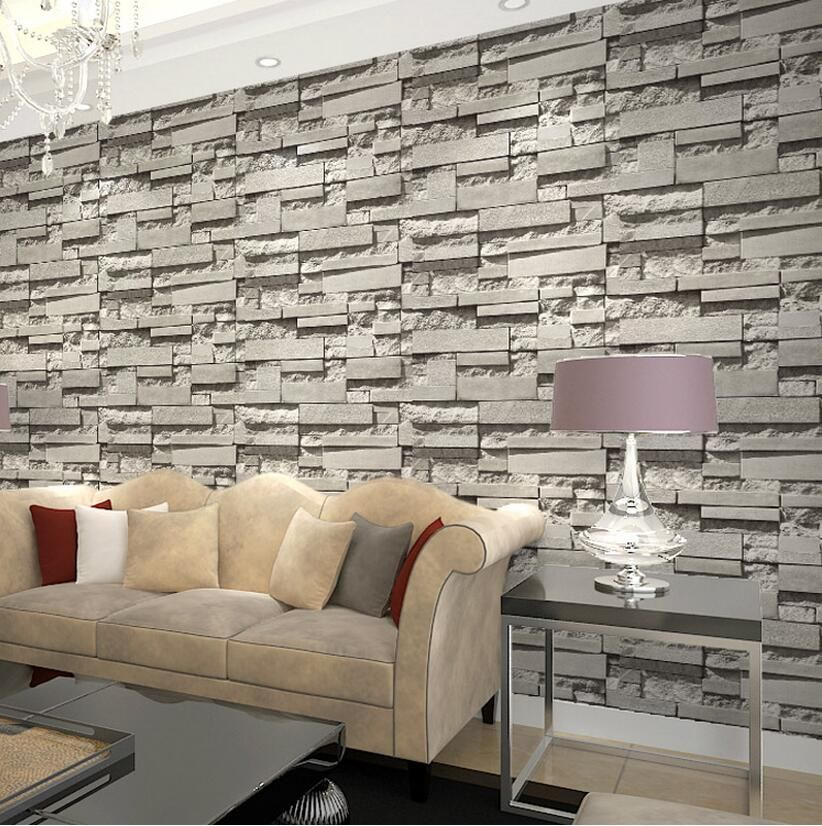 Imported South Korea Designs Super 3d Stone Wallpaper For Pvc Grey Brick Wallpaper Roll By Free Shipping Brick Wallpaper Wallpaper Stairs Wallpaper Walls Decor