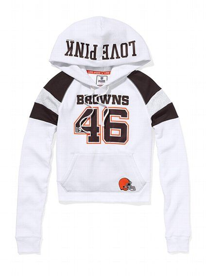 outlet store 22ff9 ba398 I WANT! Cleveland Browns Shrunken Pullover Hoodie ...