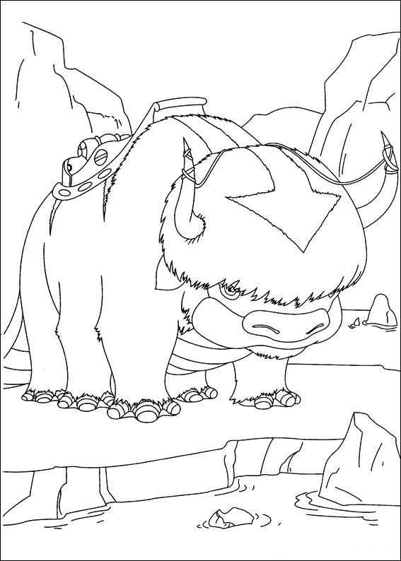 avatar the last airbender bull fly aang coloring pages for kids printable avatar the last airbender coloring pages for kids
