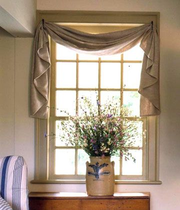 Topper For Wooden Blinds! Use Tie Backs To Hang Window Scarf   Like This  Idea For Kitchen Sink Window.
