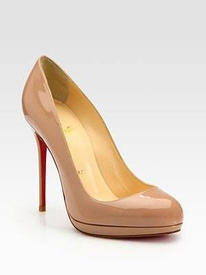 c9e1ac879d41 Authentic Christian Louboutin Nude Patent Leather New Simple Pumps ...