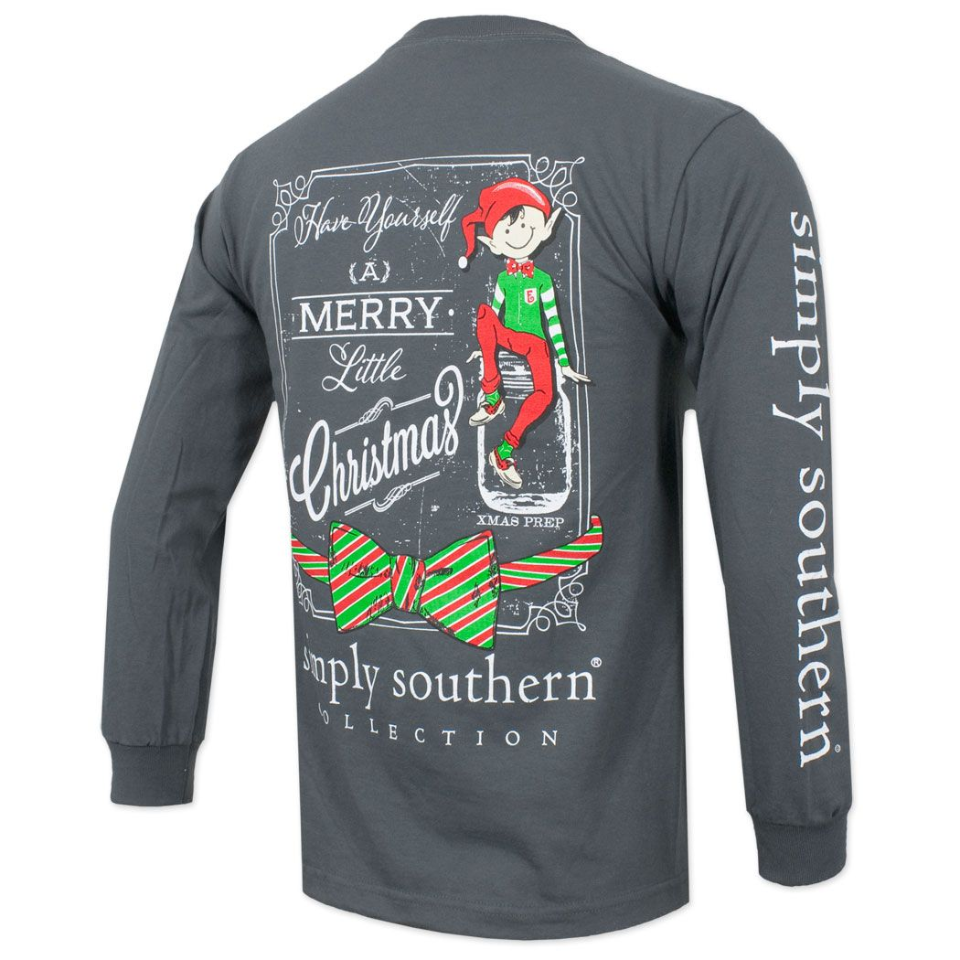 8e0ae2c4e804 Simply Southern Christmas Elf Long Sleeve Shirt - Gray #christmas # simplysouthern #elf #holiday
