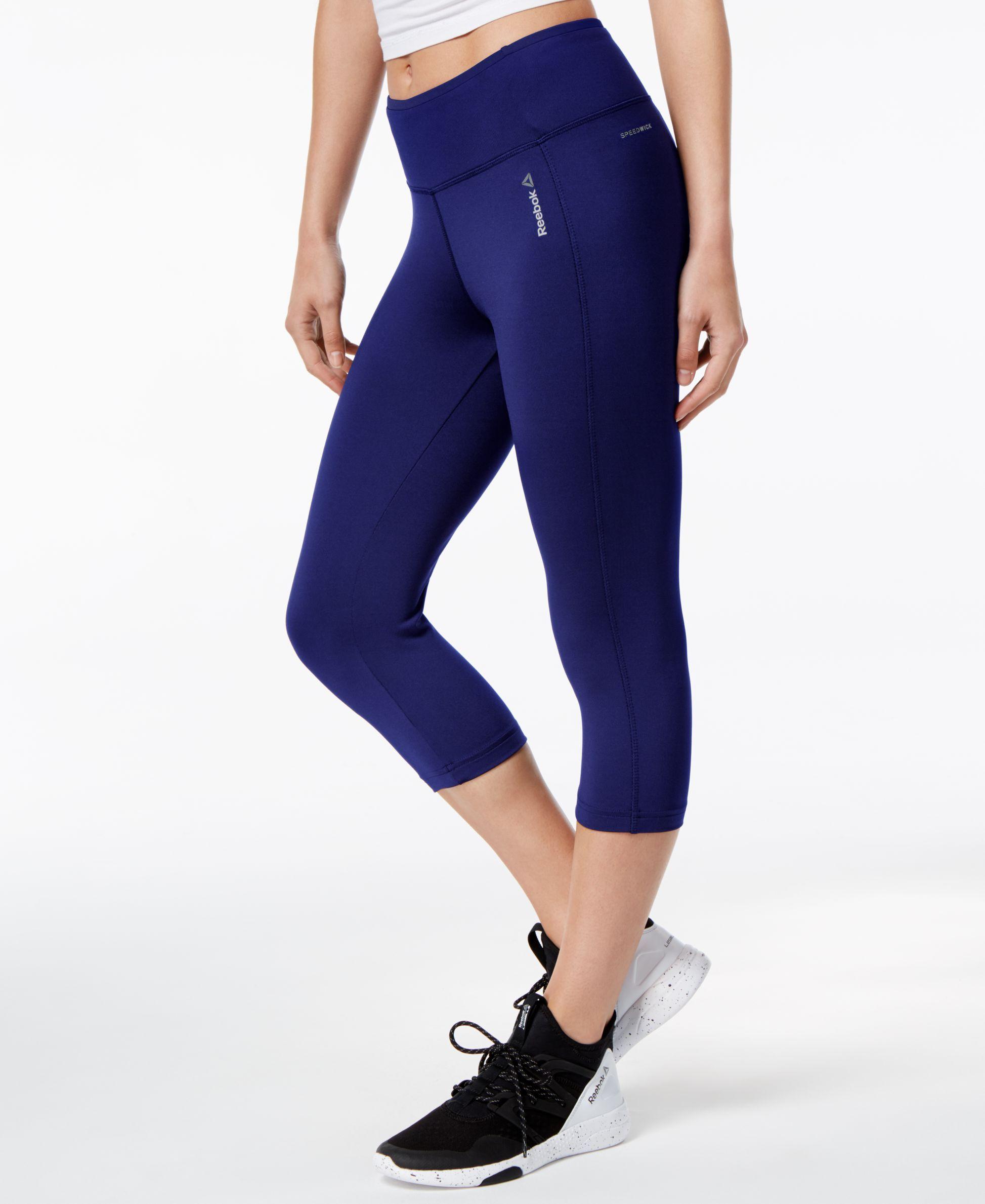 d02c54c821 Reebok Speedwick Capri Leggings   Products   Capri leggings, White ...