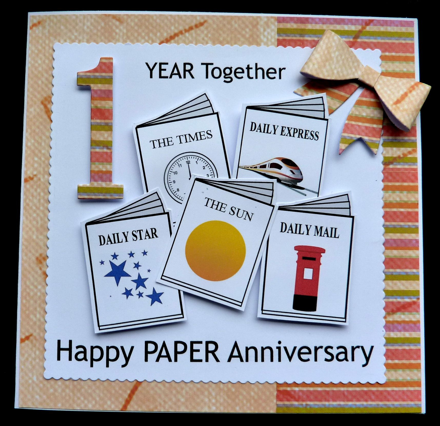 1st Anniversary Card Making Ideas Part - 18: S244 Hand Made 1st Anniversary Card