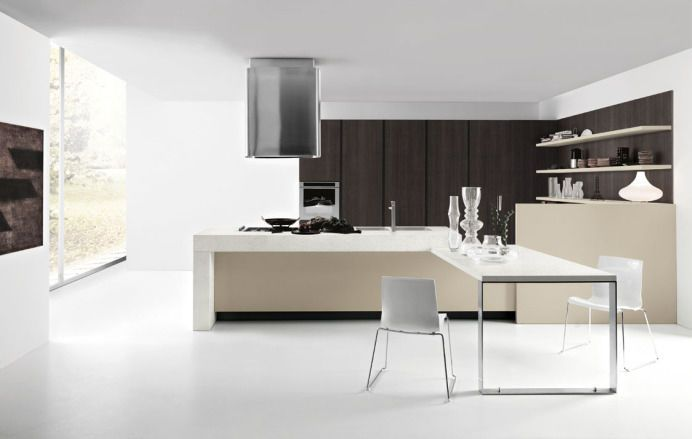 Moderne Küche \/ Laminat \/ Kochinsel ARIEL CESAR wand Pinterest - moderne küchen mit kochinsel