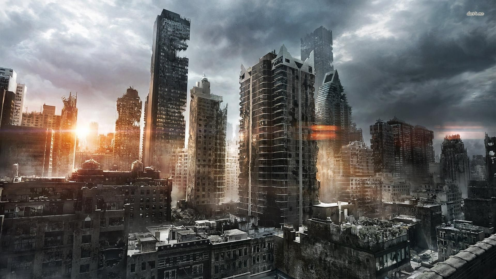 City In Ruins Hd Wallpaper Post Apocalyptic City Post Apocalyptic Art City Wallpaper