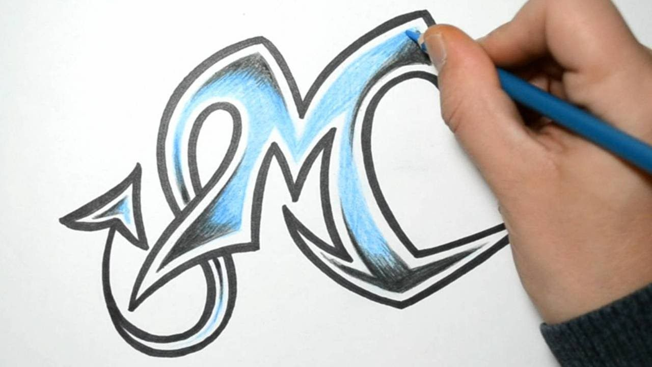 How to draw wild graffiti letters m art education for Cool writing to draw