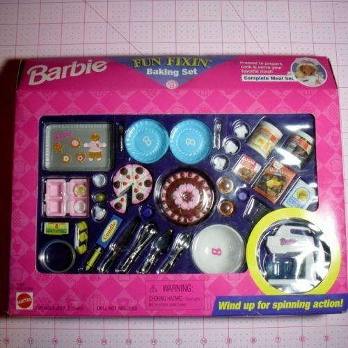 Barbie Fun Fixin' Baking Set Complete Meal Set 1997 Arcotoys Mattel   eBay