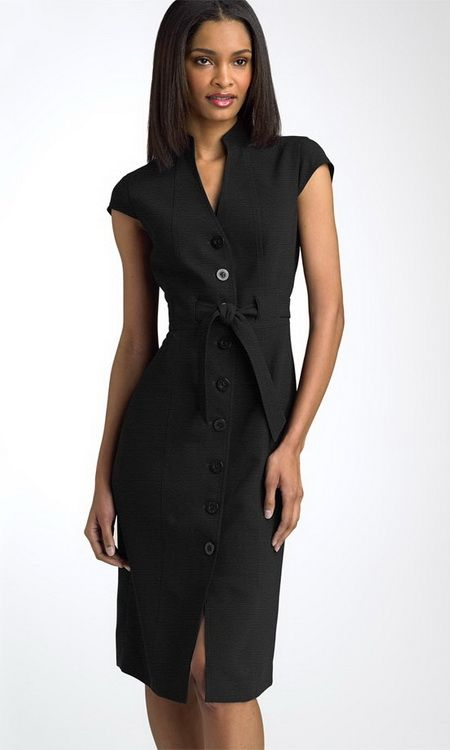 work dress | Calvin Klein Black Shirt Dress For Work Dress ...