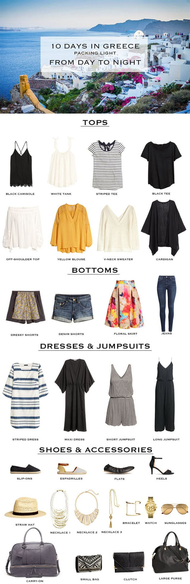 Greece Packing List and Hindsight #travelwardrobesummer