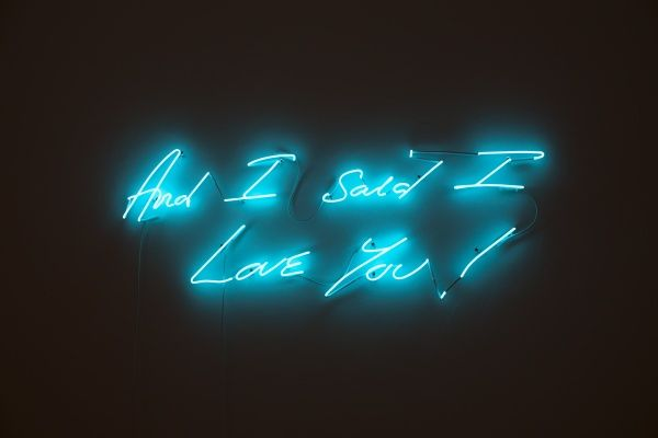 Tracy Emin, And I Said I Love You (Super Turquoise), 2011.