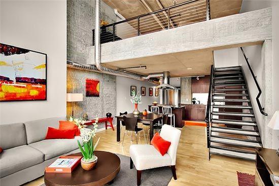 Loft Moderno Home Style Pinterest Loft design Industrial loft