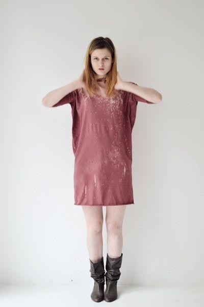 Longsleeves - kleid milkyway rosenholz marsala jersey - ein Designerstück von aempersand bei DaWanda