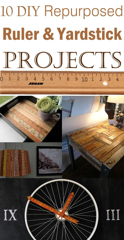 High Quality 10 DIY Repurposed Ruler U0026 Yardstick Projects Pictures