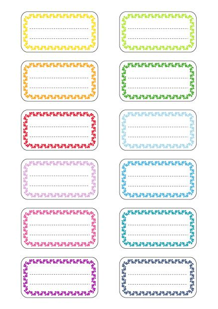 Favori Etiquette, etiquettes, étiquettes, étiquettes école, étiquettes  PN37