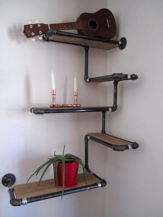 tag re murale de tuyau avec le bois r cup r par derekgoodbrand bricolage pinterest bois. Black Bedroom Furniture Sets. Home Design Ideas