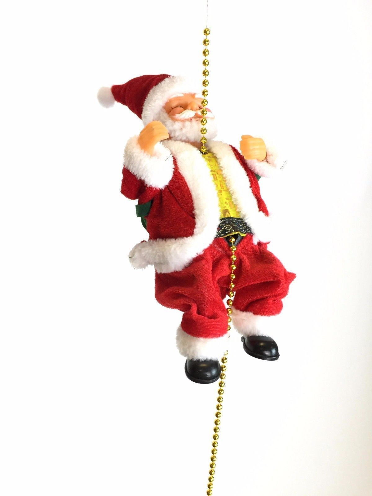 Flying santa fibre optic christmas decoration - Musical Climbing Santa Clause Figure Decoration Rope Flying Toy Christmas Tree View